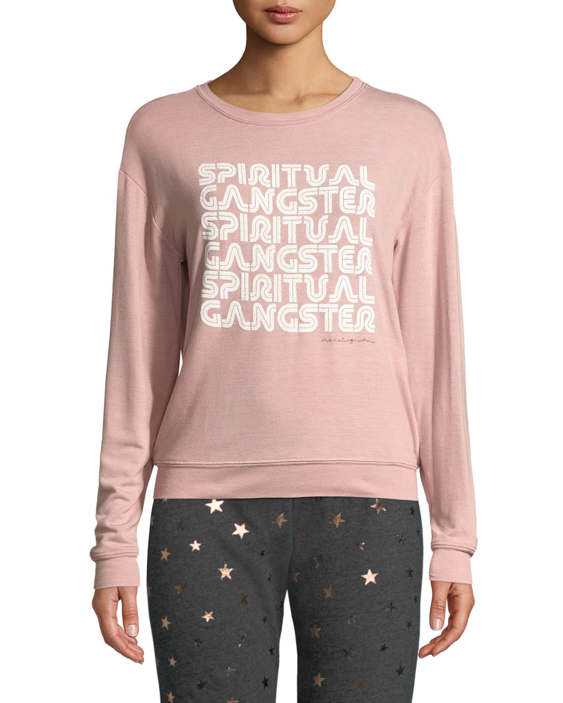 Savasana Retro Graphic Pullover Sweater