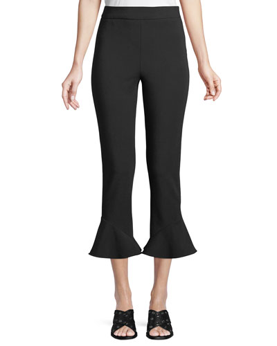 William Flare-Leg Cropped Pants