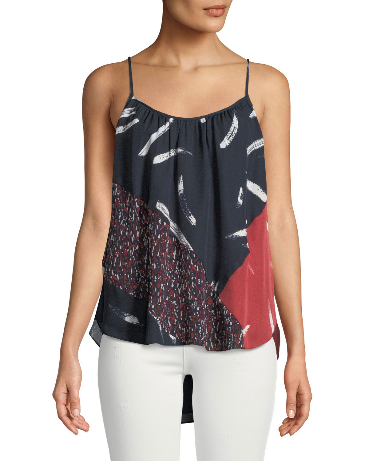 Leniline Printed High-Low Top