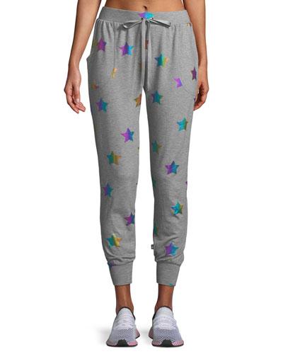 Star Foil Printed Jogger Pants