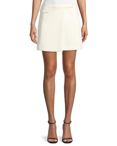 Draped A-Line Mini Skirt