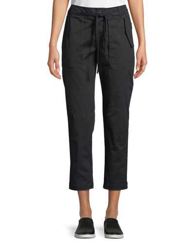 309840a4c39 Cropped Straight-Leg Utility Pants