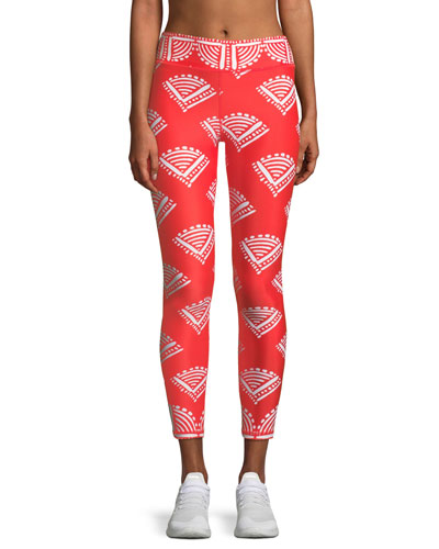 Fire Cracker Printed Midi Leggings