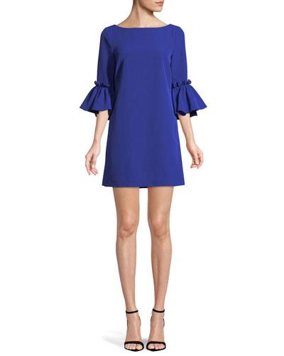 Kinsley Italian Cady Shift Dress