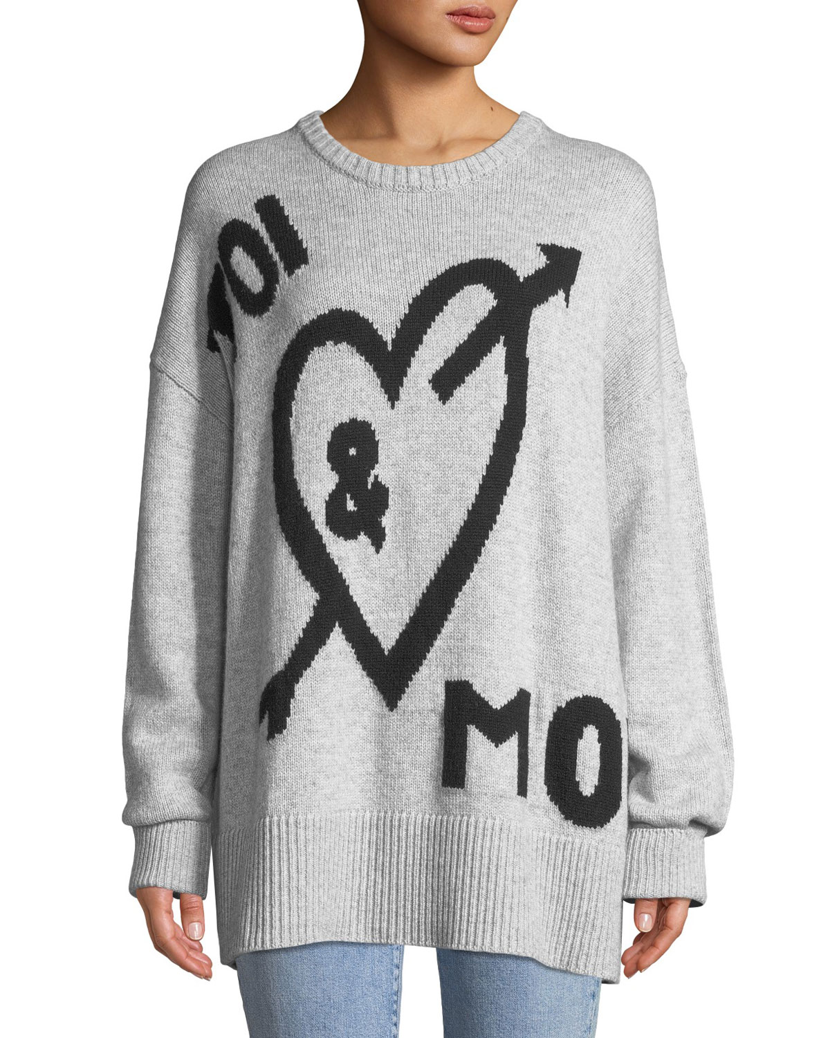 Tara You & Me Graphic Wool-Blend Pullover Sweater