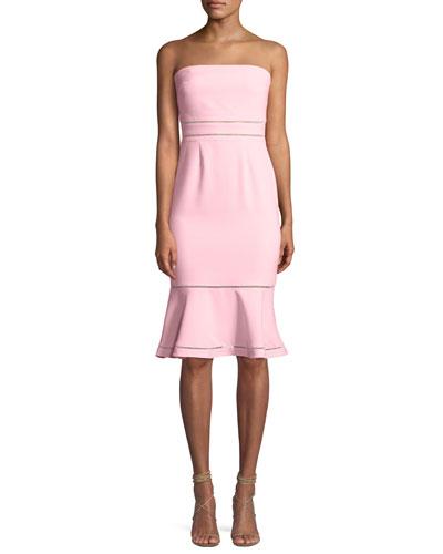 Abbott Strapless Flounce Cocktail Dress