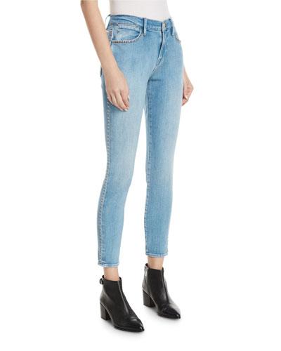 Le Studded High-Waist Skinny Jeans