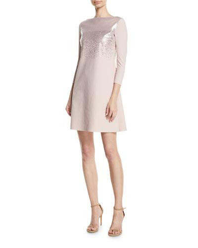 Tandie Metallic Mini Dress