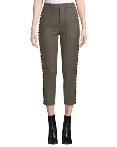 Kirtana Studded Cropped Utility Pants