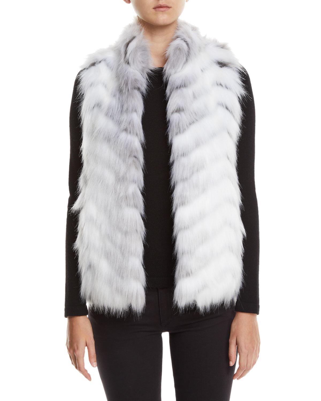 Fabulous Furs Furs LIMITED EDITION HOOK-FRONT FAUX-FUR VEST