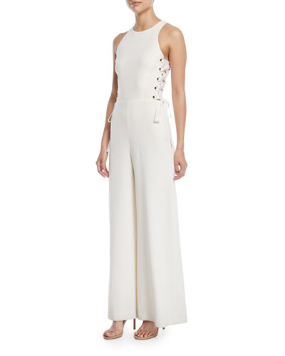 Laced In Wide-Leg Jumpsuit