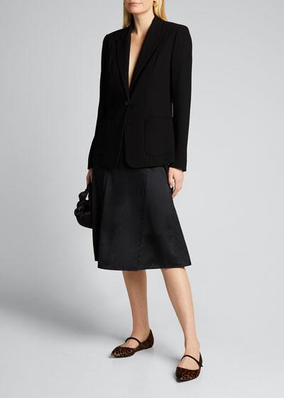 Wendy One-Button Blazer Jacket