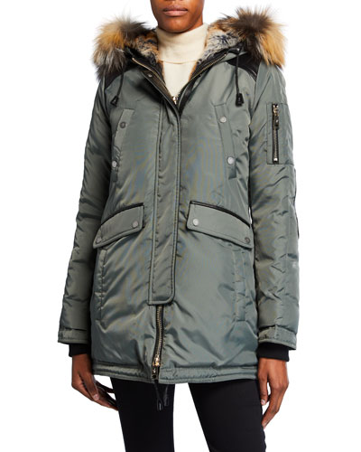 Melrose Puffer Coat w/ Detachable Fur Trim