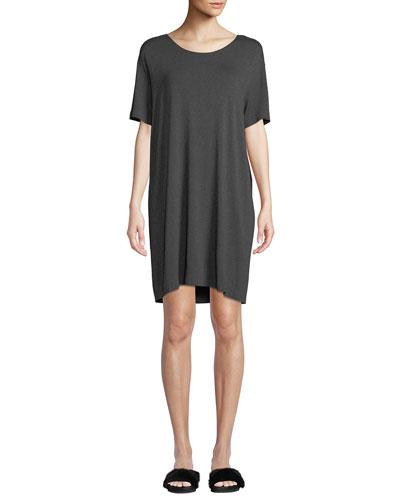 Short-Sleeve Boxy Scoop-Neck Tee Dress