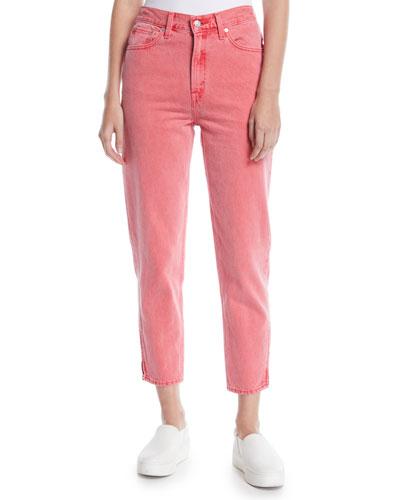 High-Waist Tapered-Leg Ankle-Length Mom Jeans