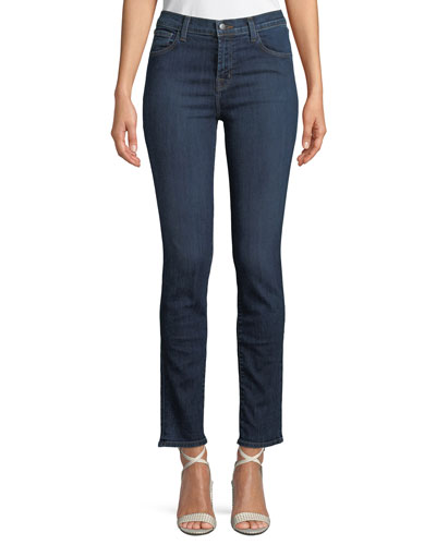 Ruby High-Rise Denim Cigarette Jeans (30