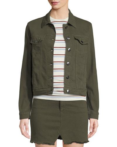 Le Vintage Button-Front Denim Jacket ae872d4ca0577