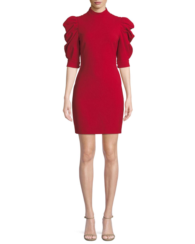 Brenna Puff-Sleeve Mini Dress
