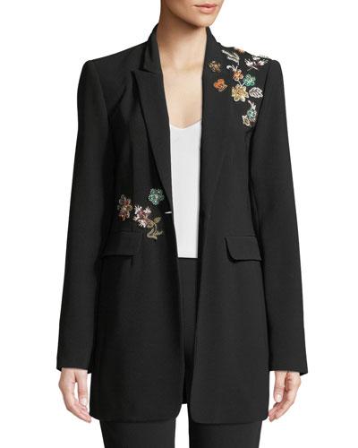 Venus Embellished Single-Button Jacket