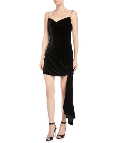 Ryder Velvet Draped Mini Dress