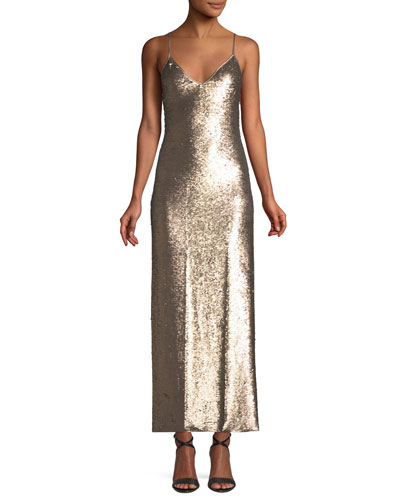 Emmalyn Sleeveless Sequin Column Dress
