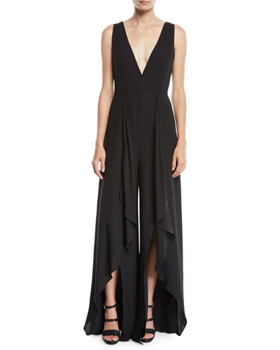 Flowy Jumpsuit w/ Draped Front