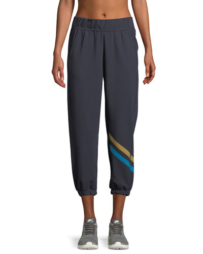 Cool Down Striped Jogger Track Pants