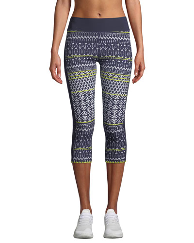 Ikat Neon Matte NYC Cropped Leggings