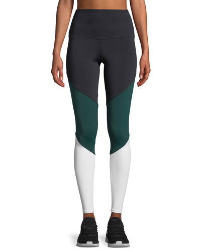 High-Rise Colorblock Track Performance Leggings