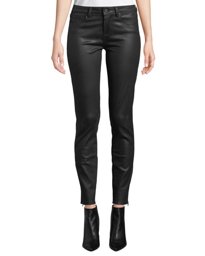 Verdugo Coated Ankle Skinny Jeans