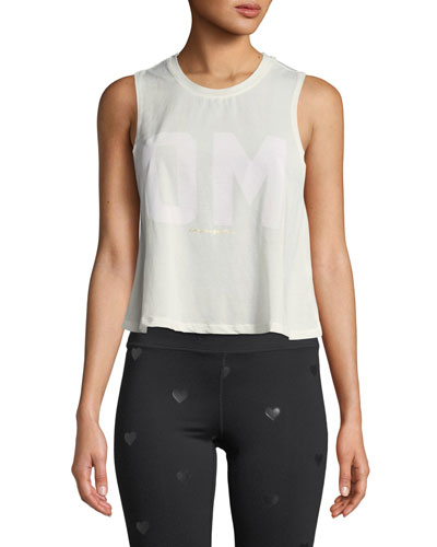 Om Cropped Activewear Tank