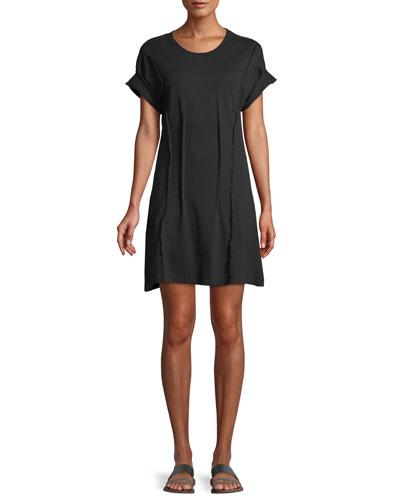 The Pintucked Short-Sleeve Tee Dress