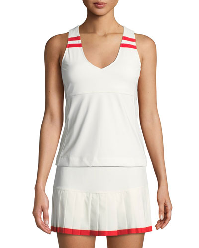 Padded V-Neck Performance Tank