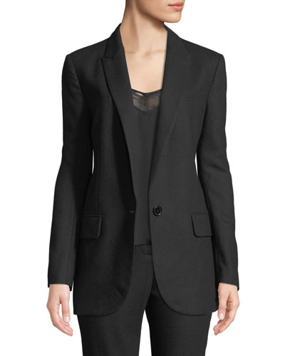 James One-Button Wool Blazer