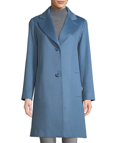 Long Two-Button Wool Coat ceb83a5ae