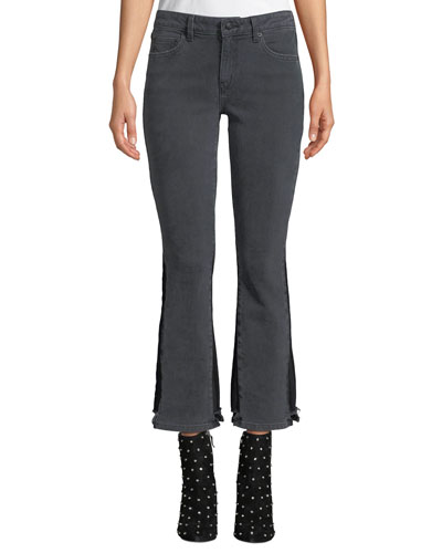 Gia Mid-Rise Cropped Flare-Leg Jeans
