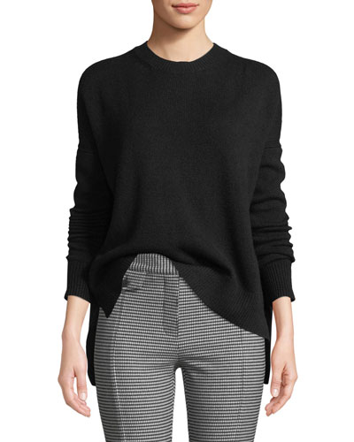 Boxy Cashmere Crewneck Sweater