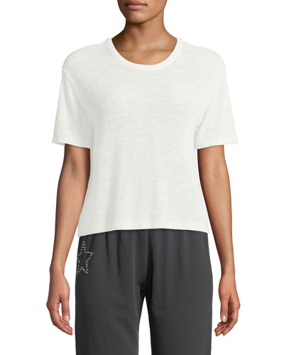 Mesh Scoop-Neck Athletic Tee