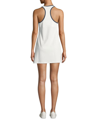 Tory Sport Quarter-Zip Racerback Activewear Dress