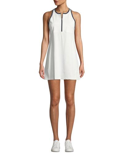 Quarter-Zip Racerback Activewear Dress
