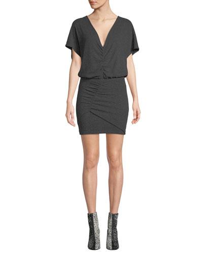 Abandon Short-Sleeve Mini Dress