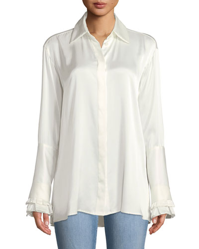Everlasting Love Silk Button-Front Shirt
