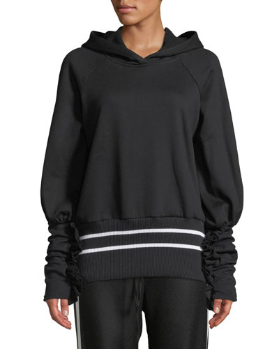 Way Past Curfew Sporty Ruffle Pullover Hoodie