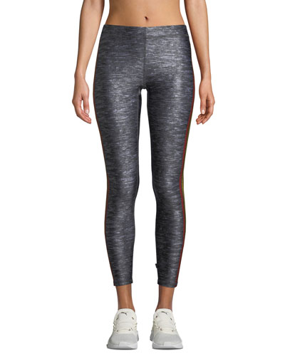Cropped Side-Stripe Performance Leggings