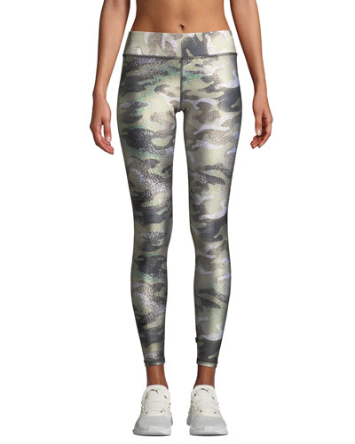 Tall Band Camo-Print Performance Leggings