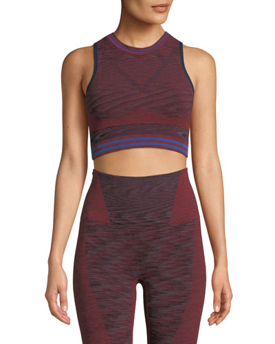 Space Knitted Performance Crop Top