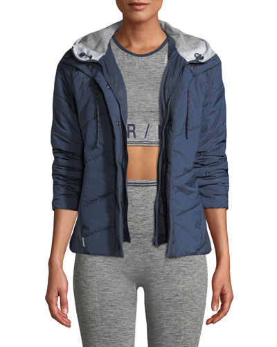 Toast Quilted Zip-Front Hooded Jacket