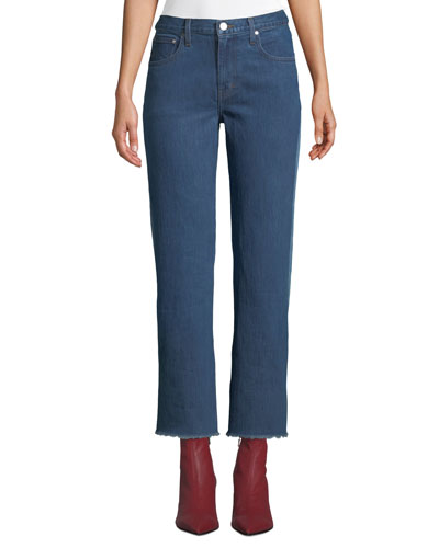 Holden Contrast-Back Straight-Leg Jeans