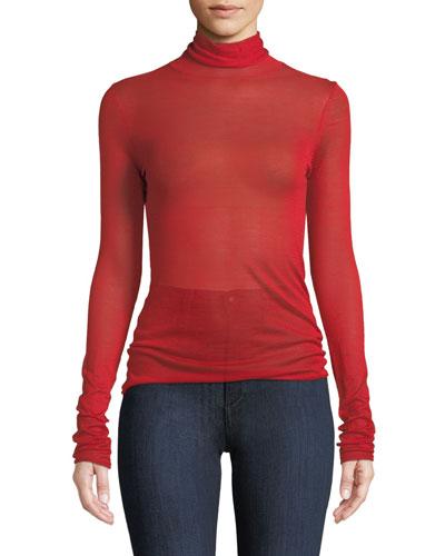Cole Silk-Alpaca Turtleneck Pullover Sweater