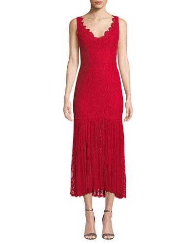 Maura Italian Stretch Lace Dress